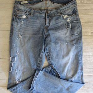 torrid Jeans - TORRID Boyfriend Jeans Sz 16 Distressed